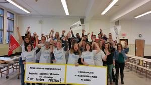 Solide et solidaire, l'équipe de l'école Irénée-Lussier est en action depuis le début.