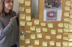Même le Canadien de Montréal s'affiche avec nos post-its.