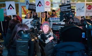 Un total de 25 entrevues ont été diffusées dans tous les médias de Montréal. À elle seule, Catherine Renaud en a accordé 12 et les militantes et militants de l'Alliance en ont donné 13 autres.  © Darren Ell
