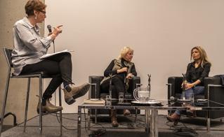 Une table ronde fort émotive sur la mobilisation citoyenne, animée par Elaine Bertrand, vice-présidente de l'Alliance, avec Anne-Marie St-Cerny et Ensaf Haidar.
