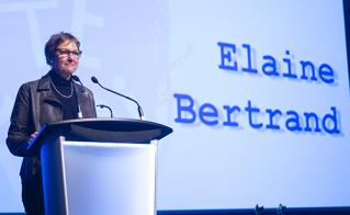 Elaine Bertrand, vice-présidente et organisatrice, a remercié les principaux artisans lors de la clôture de cette 23e édition du colloque de l'Alliance.