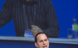 Jean-Noël Grenier appelle à la résistance dans la fonction publique. © Jean-F. Leblanc - Agence Stock Photo