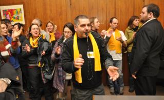 Harold Lapierre de l'école Hochelaga siffle la décision de la CSDM.