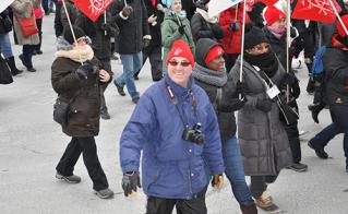 Le président du Syndicat de l'enseignement de la Pointe-de-l'Île, Luc Ferland, est prêt pour cette longue bataille.