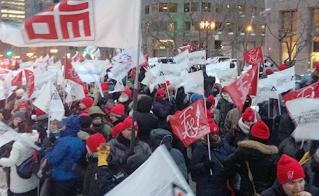 Plus de 1000 militantes et militants à la manif du 9 février, dont 750 de l'Alliance.